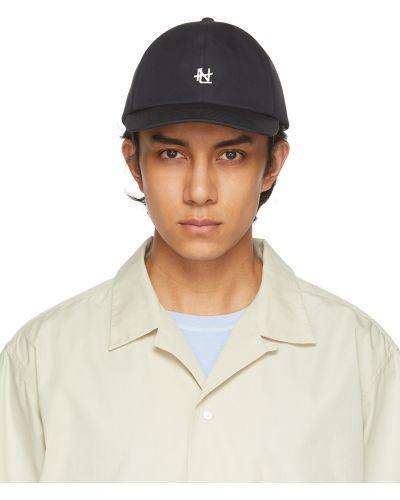 Biała czapka z haftem Nanamica