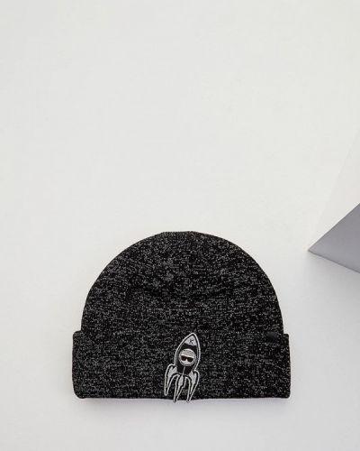 Шапка осенняя черная Karl Lagerfeld