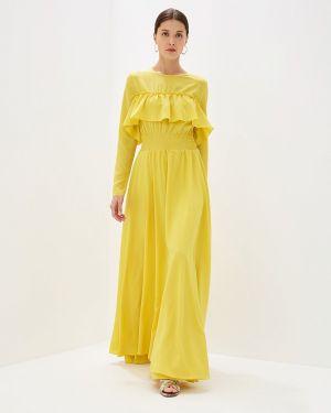 Платье прямое желтый Sahera Rahmani