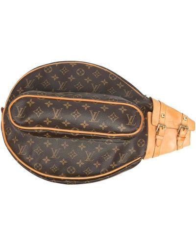Коричневая кожаная ключница с пряжкой Louis Vuitton