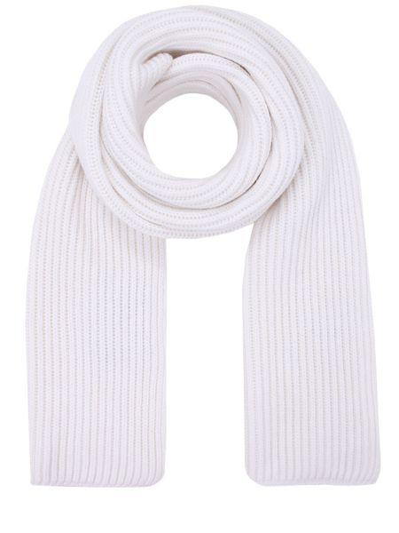 Вязаный кашемировый классический белый шарф вязаный Malo