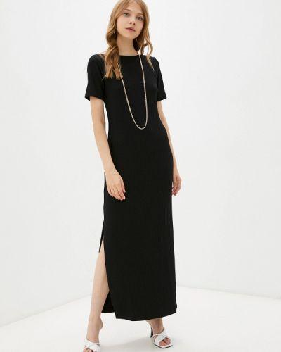 Черное трикотажное платье элис