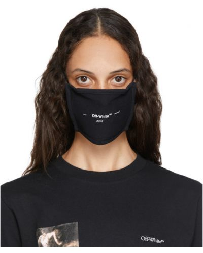Bawełna z paskiem bawełna maska do twarzy na paskach Off-white