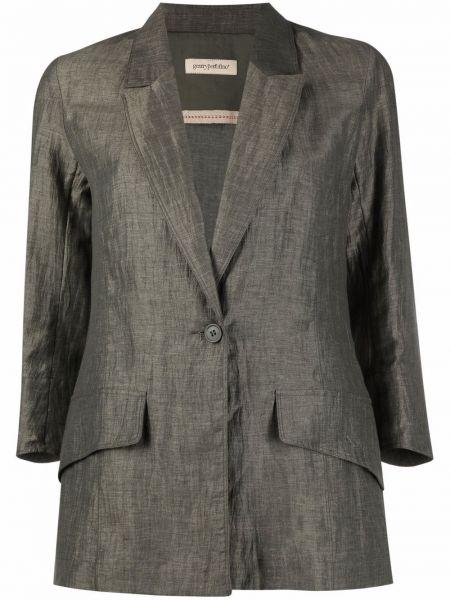 Зеленый льняной однобортный пиджак Gentry Portofino