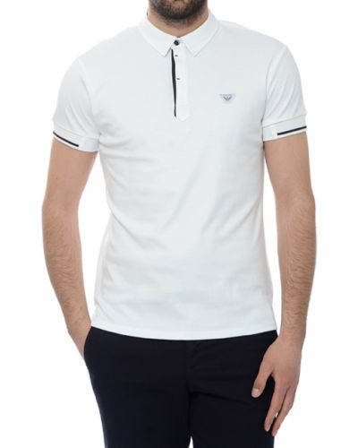 Поло белое Armani Jeans
