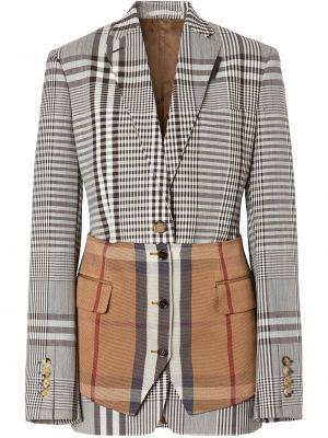 Шерстяной белый пиджак на пуговицах Burberry