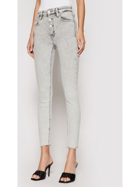 Szare jeansy rurki Calvin Klein Jeans