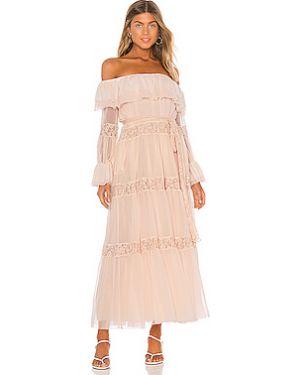 Вечернее платье шелковое ажурное Hah