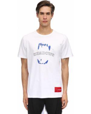 Prążkowany biały t-shirt bawełniany Renowned La