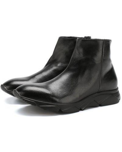 Высокие кроссовки на молнии кожаные Raparo