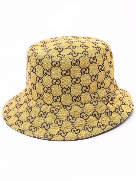 Niebieski kapelusz bawełniany Gucci
