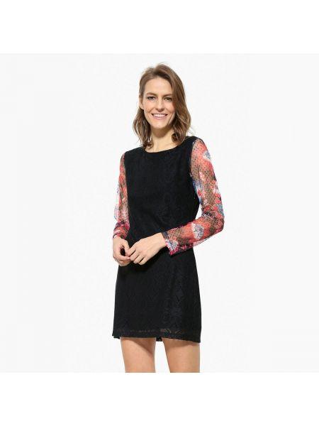 Платье мини с длинными рукавами прямое Desigual