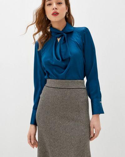 Клубная синяя блузка с бантом Concept Club