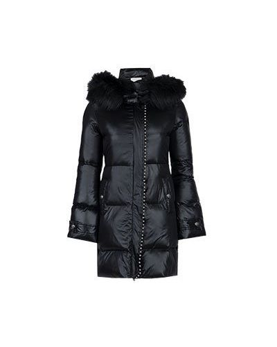 Зимняя куртка черная розовая Pinko