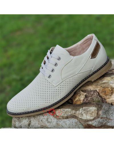 Туфли на каблуке - бежевые Kangfu
