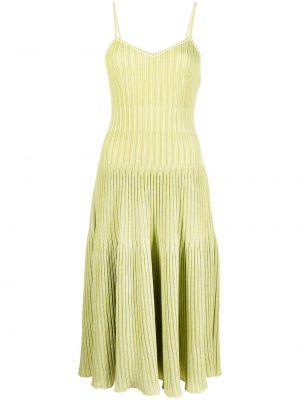Zielona sukienka midi z wiskozy Antonino Valenti