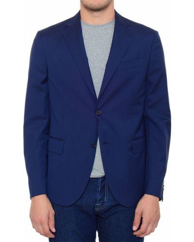 Шерстяной пиджак - синий Corneliani