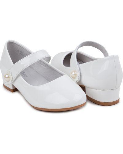 Белые туфли на торжество из искусственной кожи Santa&barbara