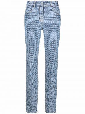 Spodnie bawełniane - niebieskie Givenchy