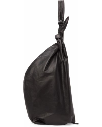 Czarna torba na ramię skórzana Yohji Yamamoto