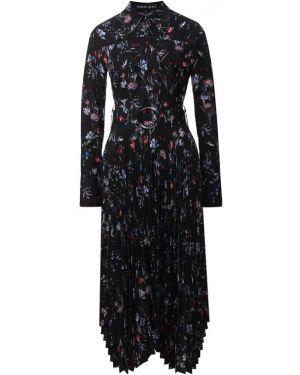 Платье миди с цветочным принтом с поясом Markus Lupfer