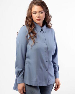 Рубашка на кнопках с воротником свободного кроя металлическая Dream World