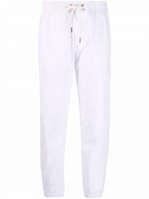 Хлопковые белые брюки карго на шнуровке James Perse