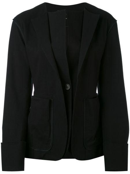 Черный удлиненный пиджак на пуговицах с лацканами Isabel Marant