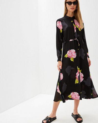 Повседневное платье весеннее черное French Connection