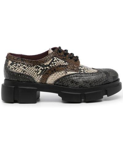 Черные туфли на шнуровке Antonio Marras