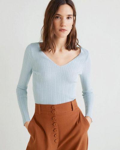Голубой пуловер Mango