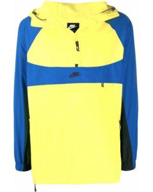 Желтый прямой джемпер на молнии с капюшоном Nike