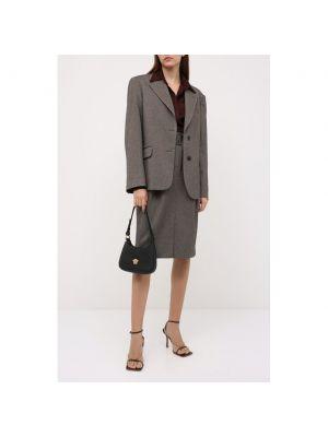 Шерстяная юбка - коричневая Dries Van Noten