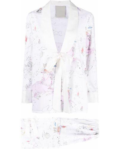 Z rękawami różowy spodni garnitur z klapami Seen Users