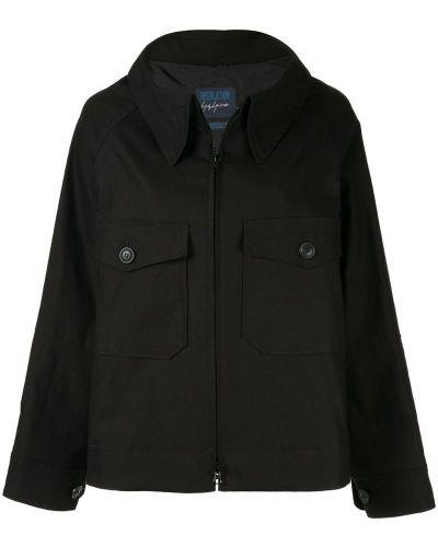 Черная длинная куртка с манжетами Yohji Yamamoto