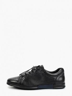 Черные кожаные ботинки Basconi