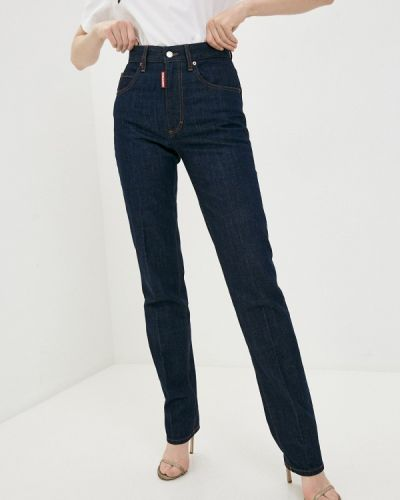Синие прямые джинсы Dsquared2