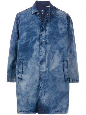 Хлопковая синяя рубашка с карманами на пуговицах Levi's®  Made & Crafted™