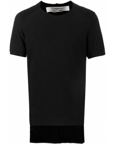 Хлопковая черная футболка свободного кроя с круглым вырезом Individual Sentiments