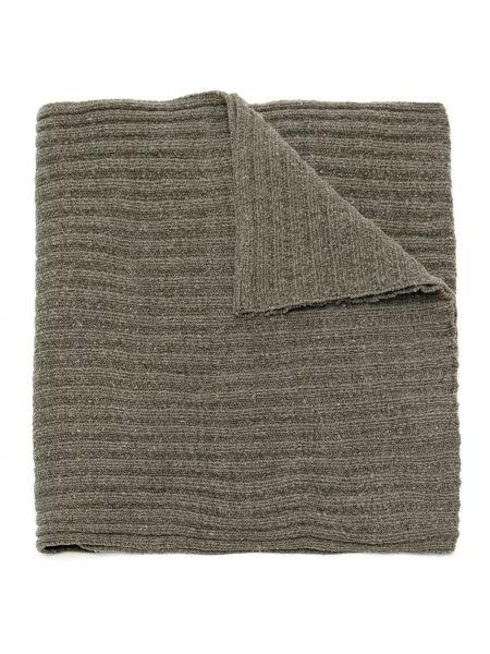 Серый шарф вязаный из вискозы в рубчик Osklen
