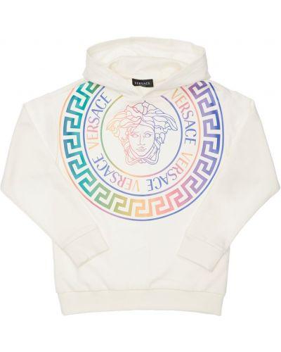 Белая свитшот с капюшоном Versace