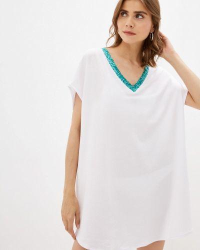 Белое весеннее платье Calzedonia