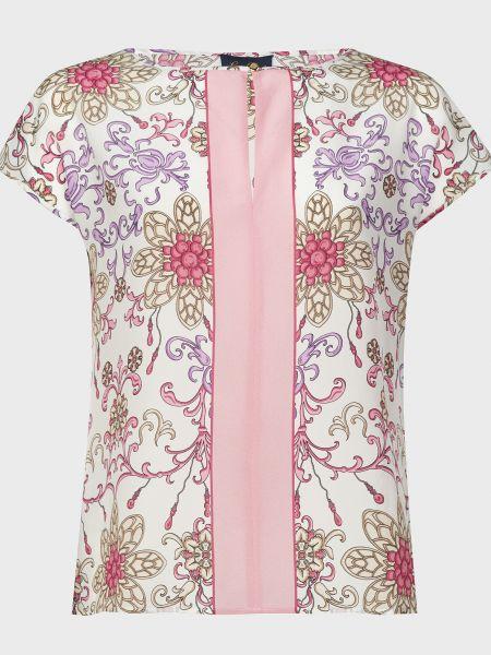 Розовая шелковая блузка Luisa Spagnoli