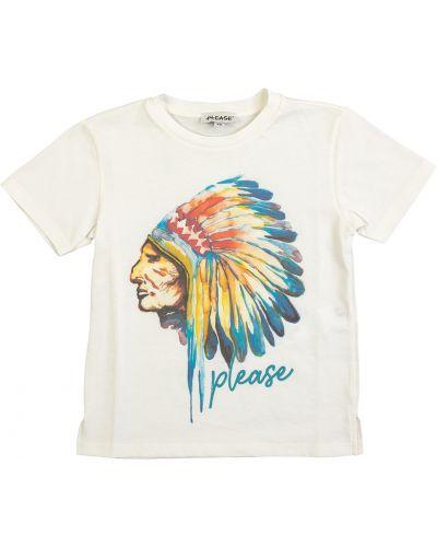 T-shirt bez rękawów - beżowa Please