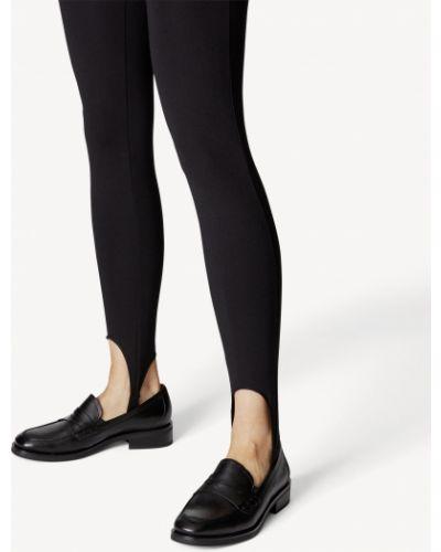 Черные кожаные лоферы Tamaris