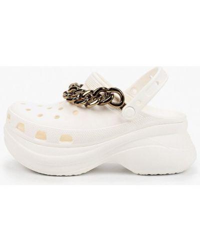 Белое сабо Crocs