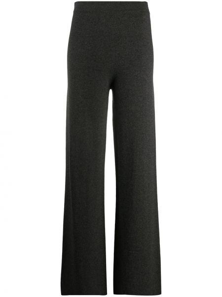 Шерстяные серые брюки с поясом свободного кроя Gentry Portofino
