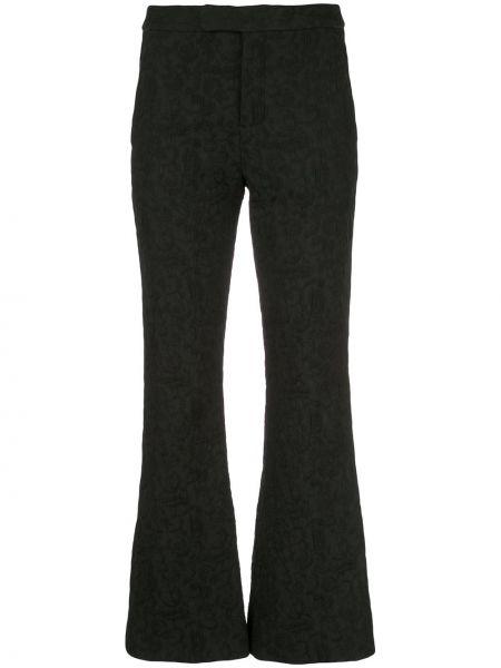 Черные расклешенные брюки с поясом Josie Natori