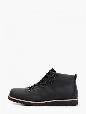 Кожаные ботинки - черные Affex