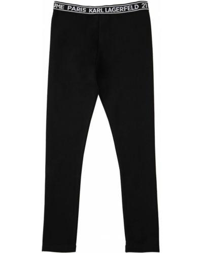 Трикотажные леггинсы - черные Karl Lagerfeld